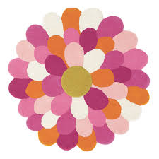 Purple Flower Rug Buy Harlequin Funky Flower Round Rug Amara