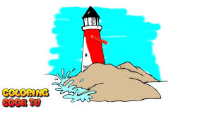 lighthouse coloring pages for kids youtube