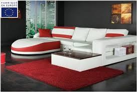 canapé d angle canapé d angle design simili blanc et angle gauche okyo