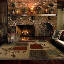 amazing rustic stone fireplace with views wood planking