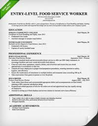 Examples Of Server Resumes Food Server Cover Letter