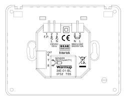 warmup 3ie thermostat piano black thermostats u0026 controls