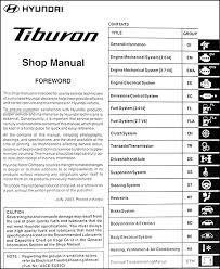 2001 hyundai tiburon manual 2004 hyundai tiburon repair shop manual original