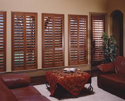 hunter douglas shutters living room transitional with