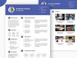 free psd cv resume template u2013 psdboom plantillas cv pinterest