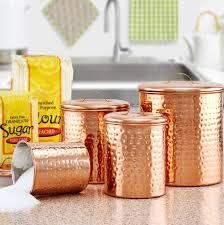 copper kitchen canister sets hammered 4 kitchen canister set reviews wayfair