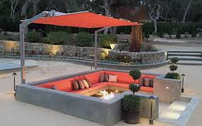 Patio Umbrella Awesome Offset Patio Umbrella With Green Grass And Swimming Pool