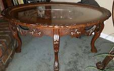 Vintage Glass Top Coffee Table Antique Glass Top Table Ebay