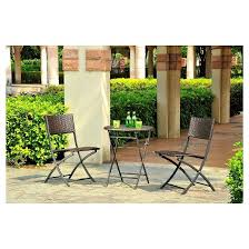 harrison 3pc all weather wicker folding patio bistro set