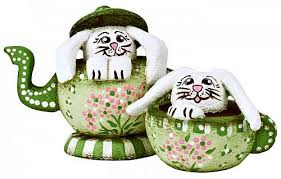 bunny tea set bunny tea set project by decoart