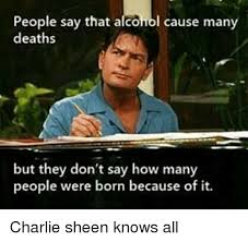 Charlie Sheen Memes - 25 best memes about charlie and alcoholic charlie and