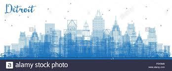 Michigan Business Travel images Detroit michigan stock vector images alamy jpg