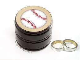 baseball wedding ring buy a custom baseball pill box baseball wedding ring box