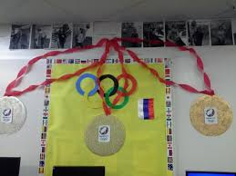 Olympic Games Decorations Olympic Spirit In The Guidance Suite