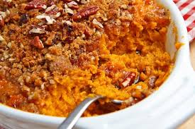 sweet potato casserole on closet cooking