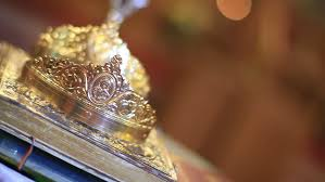 orthodox wedding crowns orthodox wedding crowns stock footage 7080628