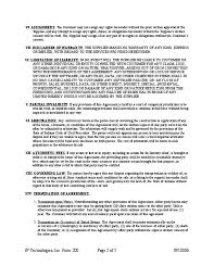 technical support service agreement free download