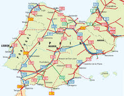 Map Spain Road Map Spain Portugal Ireland Map