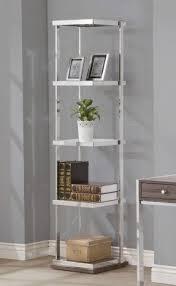 Coaster Bookshelf Chrome Bookcases Foter