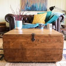 industrial vintage factory packing chest rustic plank storage