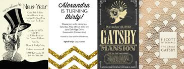 Gatsby Invitations Great Gatsby Theme Party Guide
