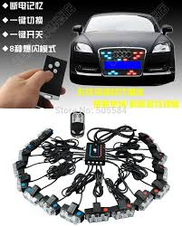 led strobe lights for motorcycles wireless 48w 16 in 1 car truck motorcycle led strobe light kit