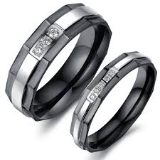 mens black wedding bands vulcan raised center diamond tungsten personalized unique black wedding engagement men jewelry fashion stainless steel diamond inlaid couple rings for
