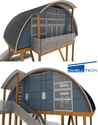 Engineered structural curved roof homes and cottages in British