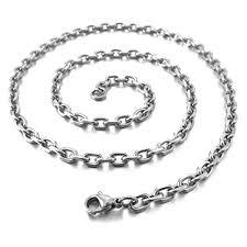 necklace silver gold images Inblue men women 39 s stainless steel pendant necklace silver gold jpg