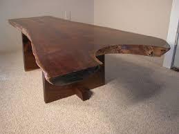 Rustic Walnut Coffee Table Custom Rustic Walnut Crotch Slab Coffee Table Dumond S Furniture