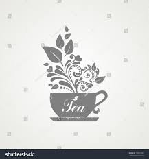 cute tea time card cup floral stock vector 178872707 shutterstock