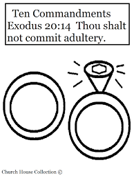 commandment page ten coloring sheets thou shalt not commit