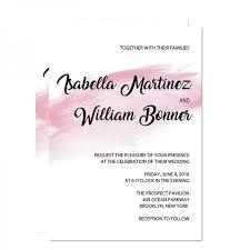 watercolor wedding invitations shade of pink watercolor wedding invitation wip069