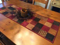 Primitive Table Runners by Quilted Table Topper Primitive Table Topper Country Quilt Item