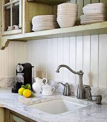 kitchen wall covering ideas 17 backsplashes for a unique kitchen wood paneling backsplash