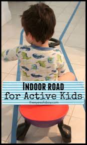 indoor road activity for active toddlers and kids the eyes of a boy