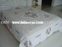 Embroidery Designs For Bed Sheets For Hand Embroidery Flower Design Ribbon Embroidery Bedding Set For Sale Price China
