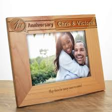 engraved anniversary gifts personalised anniversary photo frame 5th anniversary gifts