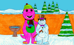 barney and his snow dino by bestbarneyfan on deviantart