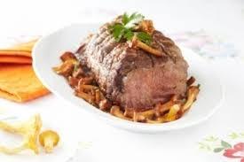 cuisine roti de veau recette de rôti de veau aux girolles facile et rapide