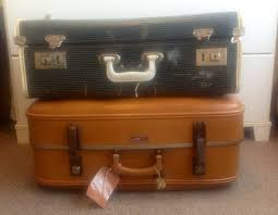 suitcases op shop finds are these suitcases vintage or retro this mum rocks