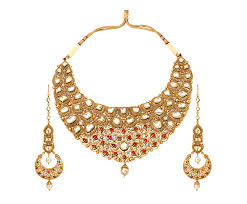 gold necklace set jewellery images Tanishq rivaah glass kundan 22kt gold neckwear set jewellery png