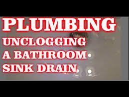 BATHROOM SINK IS CLOGGED HOW TO UNCLOG A DRAIN YouTube - Bathroom sink drain clogged