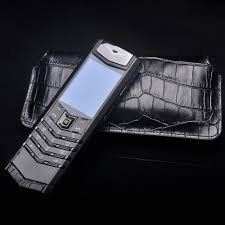 vertu phone touch screen 2016 luxury crocodile skin pattern mobile phone leather flip pouch