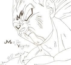 dragon ball majin vegeta drawing