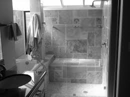 Black Bathrooms Ideas by Fine Grey Modern Bathroom Ideas Tiny Subway Tiles Builtin Shelves