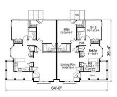 Multi Family Homes Floor Plans Country Ranch Southern Multi Family Plan 59208 Level One Tips
