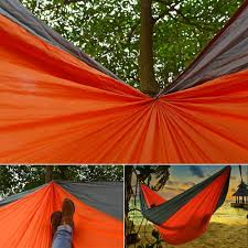 odoland double large travel camping hammock
