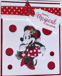 unique 3d minnie mouse christmas card hand made christmas