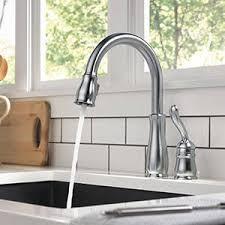 leland kitchen faucet shop delta leland stainless 1 handle deck mount pull kitchen